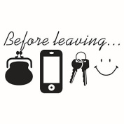 DESY Wall Stickers Wall Decals Style Before Leaving English Words & Quotes PVC Wall Stickers