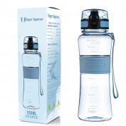 Super Sparrow Premium Sports Water Bottle - Fast Flow, Flip Top Leak Proof Lid w/ One Click Open - Non-Toxic BPA Free & Eco-Friendly Tritan Co-Polyester Plastic - For Running, Gym, Yoga, Outdoors and Camping