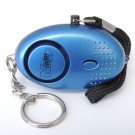 Minder® 140db Police Approved Metallic Blue Mini Minder Loud Personal Staff Panic Rape Attack Safety Security Alarm Keyring with Torch - Secured by Design Approved