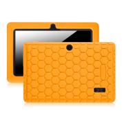 Fintie [Kids Friendly] Shock Proof Silicone Case Cover for 18cm Tablet inclu. NeuTab N7 Pro / NeuTab N7S Pro 7, iRULU eXpro X1 7, Alldaymall A88X 7, Chromo Inc 7, Dragon Touch Y88X 7, NPOLE 7, Orange