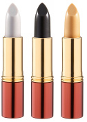 3 x Ikos Thinking Lipstick Cherry Apricot and Pearl Pink DL5, DL4, DL1
