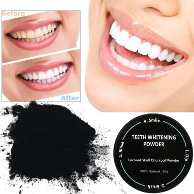 FEITONG Teeth Whitening Powder Natural Organic Activated Charcoal Bamboo Toothpaste (Black-2)