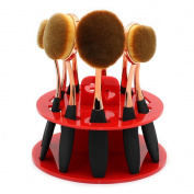PEPECARE 10 Hole Oval Makeup Brush Holder Drying Rack Stand Organiser Cosmetic Shelf Tool