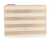 Holy Chic Stripe Gold Pouch Bag Clutch Make Up Cosmetics Wash Bag