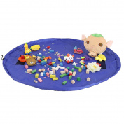 TedGem Toy Storage Bag, Large Children Lego Play Mat Beach Mat Baby Tidy Bag Kids Rug Toy Organiser Drawstring Bag