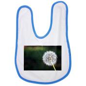 Dandelion, Flower, Flowers, Nature baby bib in blue
