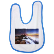 Abstract, Background, Beach, Beautiful baby bib in blue