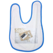 Laptop Computer, Tray, Tea, Laptop baby bib in blue