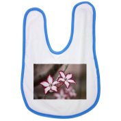 Flower, Impala Lily, Floral, Plant baby bib in blue