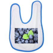 Background, Berry, Blue, Blueberry, Food baby bib in blue