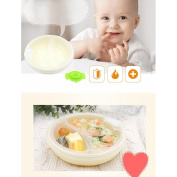 DAYNECETY Baby Stay Put Suction Bowl For Weaving Warming Plate Children Sucker Feeding Dish Bowl Non-slip Tableware Spill Proof
