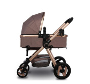 HJXJXJX Baby High Landscape Trolley, Can Sit Down And Fold The Portable High Landscape Baby Carriage