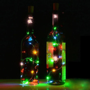 Janly®Solar Wine Bottle Cork Shaped String Light 10 LED Night Fairy Light Lamp Xmas