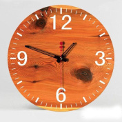 FUXINGXING 30cm display creative fashion personality mute Home Furnishing painted wooden crafts wall clock