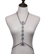 Exaggeration Gems Flowers Clavicle Chain