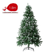 A-SZCXTOP 1.8m/5.9 feet – Artificial Christmas Tree With White Tips and Snow Covered, Easy to Set Up and Take Down Christmas Tree
