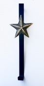Silver Star On Brown Metal Decor And Wreath Hanger