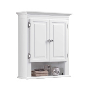 3-Shelf with 2-Doors Bathroom Wall Mount Cabinet in White