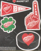 Detroit Red Wings 4 Piece Magnet Set