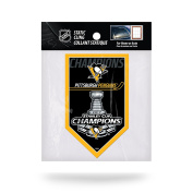 NHL Pittsburgh Penguins 2017 Stanley Cup Champions Die Cut Static Cling, Black, 7.6cm x 13cm