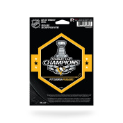 NHL Pittsburgh Penguins 2017 Stanley Cup Champions Die Cut Decal, Black, 23cm x 18cm