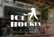25x15cm White Sticker Vinyl Decal Gamer Ice Hockey Player Car Auto Bumper Glass Laptop