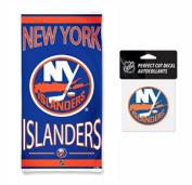 NHL New York Islanders 80cm x 150cm Towel and 10cm x 10cm Perfect Cut Decal SET