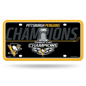 Pittsburgh Penguins 2017 Champions Metal Aluminium Novelty Licence Plate Tag Hockey Stanley Cup