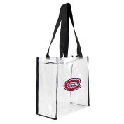 NHL Montreal Canadiens Square Stadium Tote, 11.5 x 14cm x 29cm , Clear