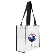 NHL Edmonton Oilers Square Stadium Tote, 11.5 x 14cm x 29cm , Clear