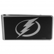 NHL Tampa Bay Lightning Black & Steel Money Clip