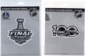 PENGUINS PREDATORS 2017 STANLEY CUP FINAL 100TH ANNIVERSARY TWO PATCH SET