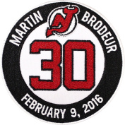 Martin Brodeur New Jersey Devils #30 Retirement Game Ceremony Jersey Patch Emblem 2016