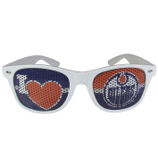 NHL Edmonton Oilers I Heart Game Day Shades, White,Adult,White