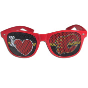 NHL Calgary Flames I Heart Game Day Shades, Red, Adult