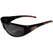 NHL Calgary Flames Wrap Sunglasses, Black, Adult