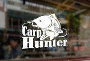 25cm CARP HUNTER Crew Fly Fishing Trout Hooks Bite Spinning Art Vinyl Stickers Funny Decals Bumper Car Auto Computer Laptop Wall Window Glass Skateboard Snowboard