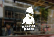 25cm Baby on board Vinyl Stickers Funny Decals Bumper Car Auto Computer Laptop Wall Window Glass Skateboard Snowboard