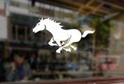 25cm Mustang Running Horse Art Vinyl Stickers Funny Decals Bumper Car Auto Computer Laptop Wall Window Glass Skateboard Snowboard Room Tuning