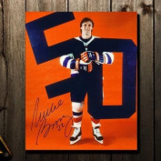 Signed Bossy Picture - 50 50 8x10 - Autographed NHL Photos