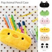 Pop Animal Pencase (popanimalpen cases), bear, rabbit, Pan's frog! man's pencil case full of boy & girl kid kids love animals (Carle) Carle / pencil case / your pencil case / cosmetic bag / cosmetic case / travel pouch