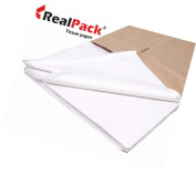Realpack® 100 X - White Sheets Of Acid Free Premium Luxury Tissue Paper Rea