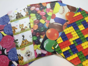 10 Sheets Of Luxury Children Toy Birthday Christmas Anytime Wrap And Tags