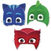 6 Pj Masks Masks - Official - Party Toy Loot Cardboard Kids Pyjamas