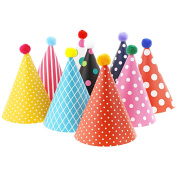 Kids Birthday Party Cone Hats, Assorted 11 Ct