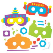 5 Robot Foam Mask Kits For Children To Make Wear At Fancy Dress Party Kids Craft