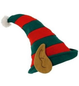 Christmas Elf Hat Polyester Xmas Hat Fancy Dress Costume One Size