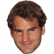 Roger Federer Celebrity Mask, Card Face And Fancy Dress Mask