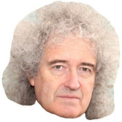 Brian May Celebrity Mask, Card Face And Fancy Dress Mask