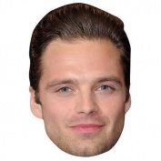 Sebastian Stan Celebrity Mask, Card Face And Fancy Dress Mask